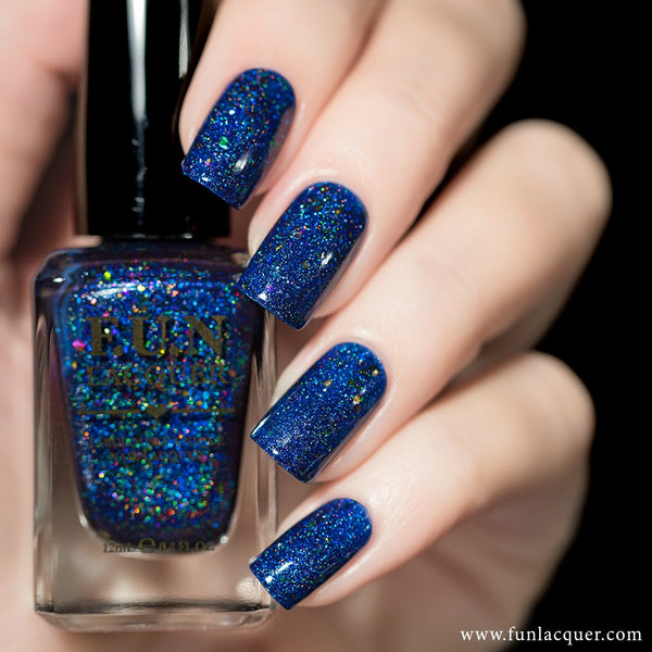 Orion Blue Jelly Holographic Nail Polish