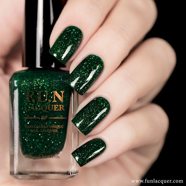 Paragon Green Holographic Nail Polish