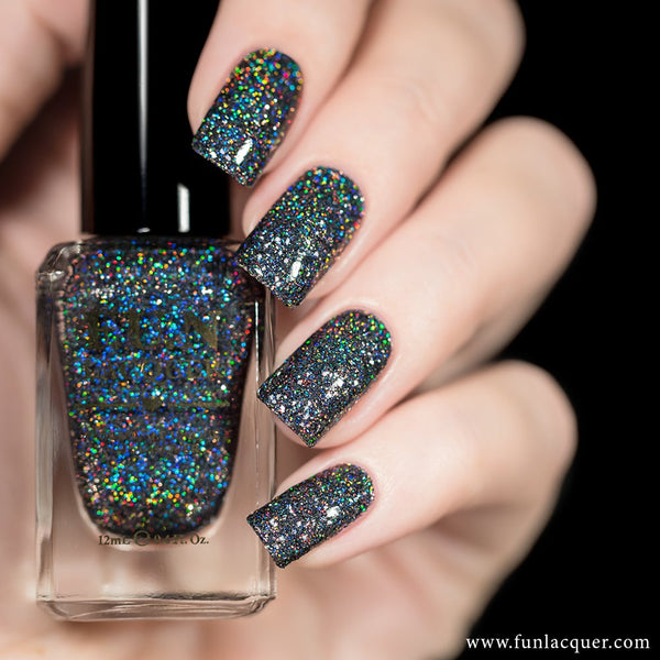 Snow in the Rainbow Night Holographic Glitter Nail Polish