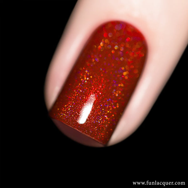 Splendor Red Holo Nail Polish
