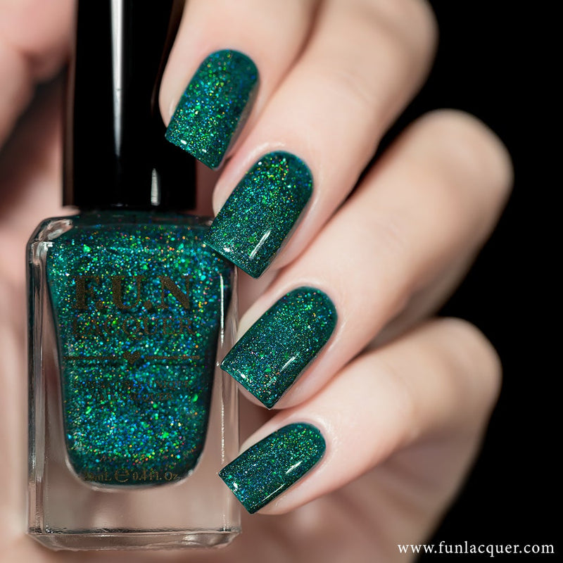 Ursa Minor Green Jelly Holographic Nail Polish