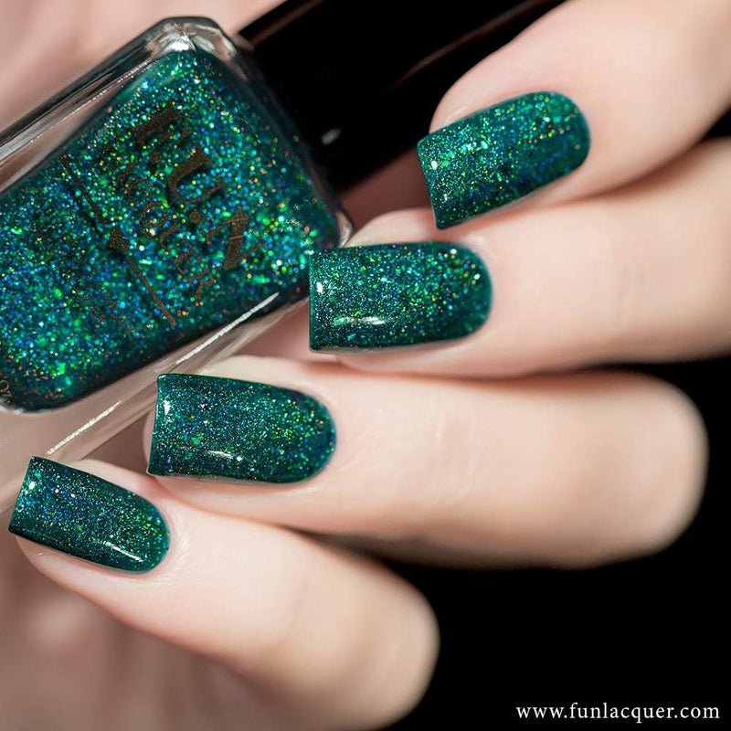 Ursa Minor Green Jelly Holographic Nail Polish 2