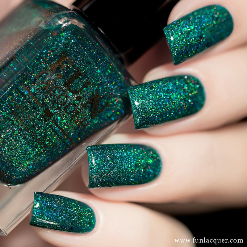 Ursa Minor Green Jelly Holographic Nail Polish 3