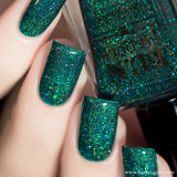 Ursa Minor Green Jelly Holographic Nail Polish 3=4