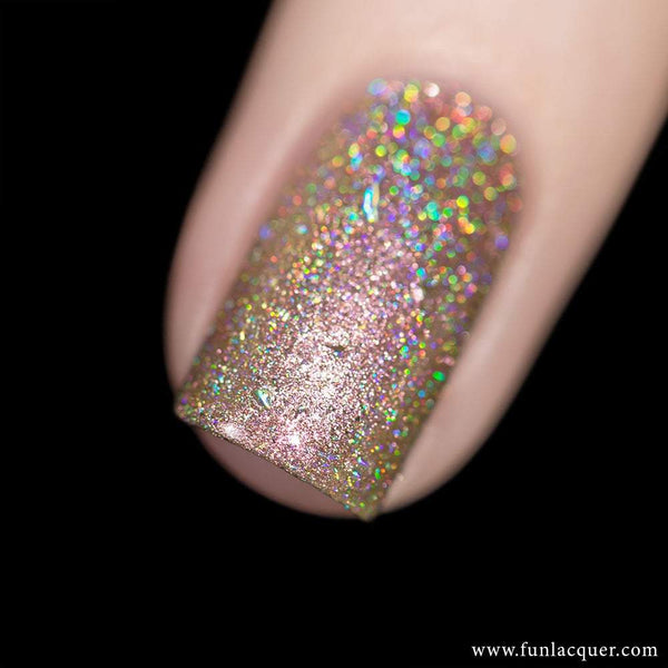 Lady Boss Rose Gold Metallic Holographic Nail Polish