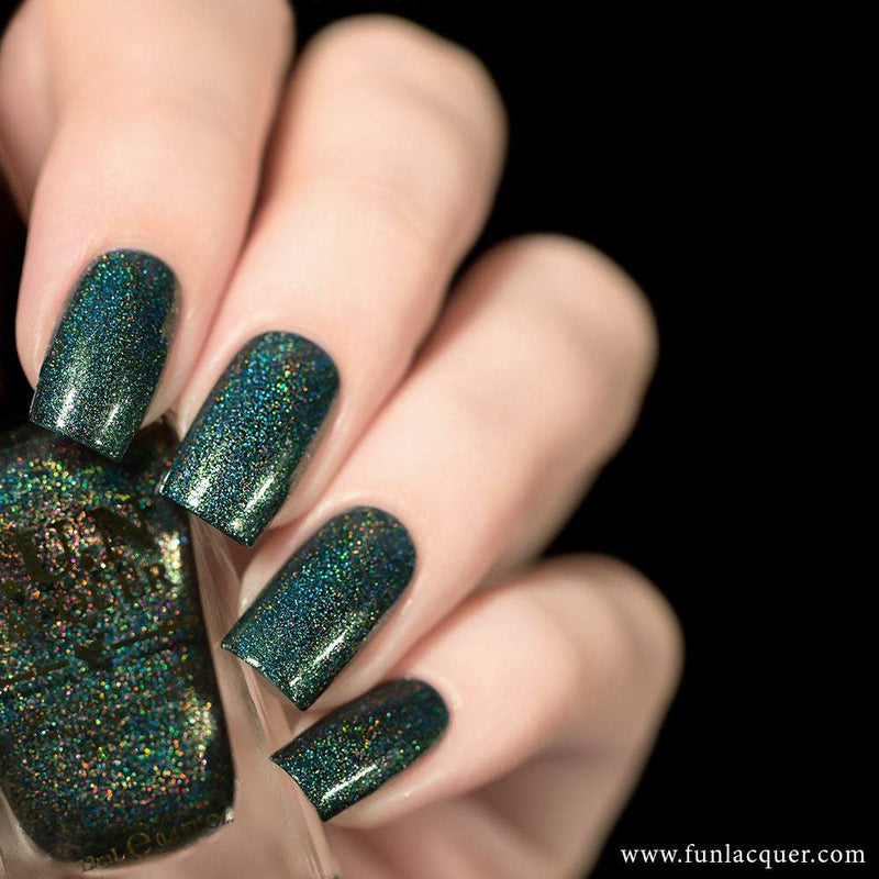 Positive Vibes Green Holographic Nail Polish