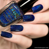 Starry Night Of The Summer Blue Holographic Nail Polish