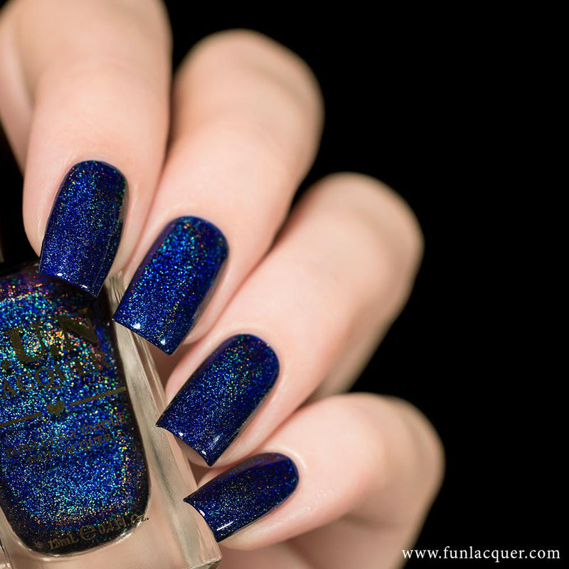 Starry Night Of The Summer Blue Holo Nail Polish