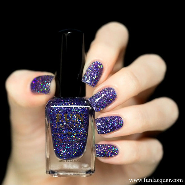Galaxy Holographic Glitter Nail