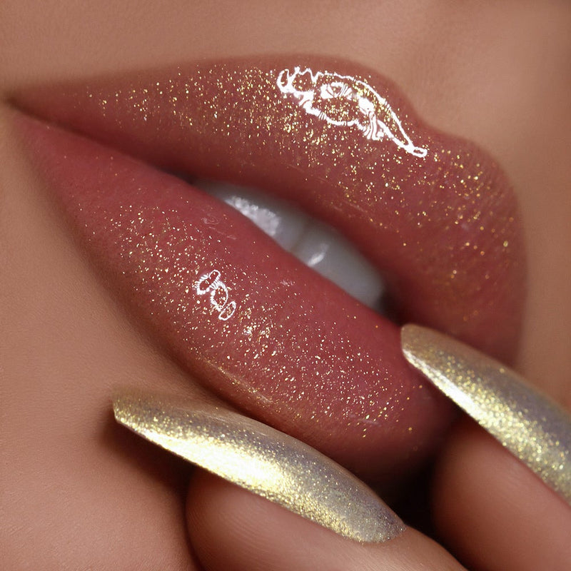 Heart Of Gold 003 Lip Gloss + Nail Polish Duo Color Shifting Shimmer