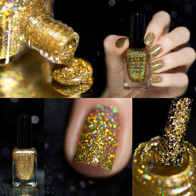 F.U.N Lacquer 1st Anniversary Collection Gold Glitter Nail Polish