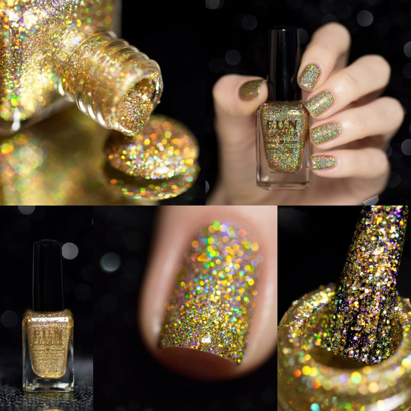 F.U.N Lacquer 1st Anniversary Collection Gold Glitter Polish