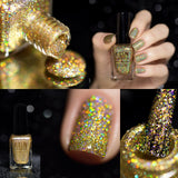 Million Dollar Dream 100% real gold holographic nail polish