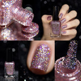 F.U.N Lacquer 1st Anniversary Collection Pink Glitter Nail Polish