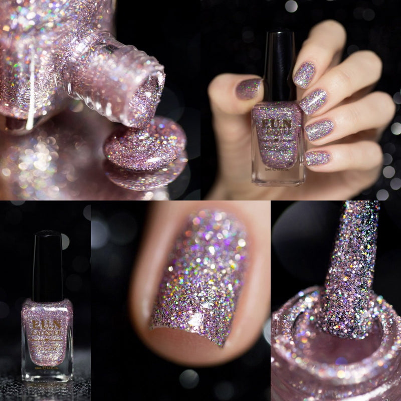 F.U.N Lacquer 1st Anniversary Collection Pink Glitter Polish