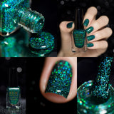 F.U.N Lacquer 1st Anniversary Collection Green Glitter Nail Polish