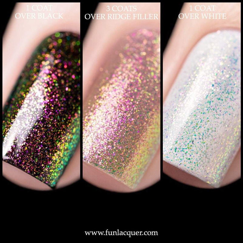 Iconic Red Pink Color Shifting Iridescent Unicorn Top Coat