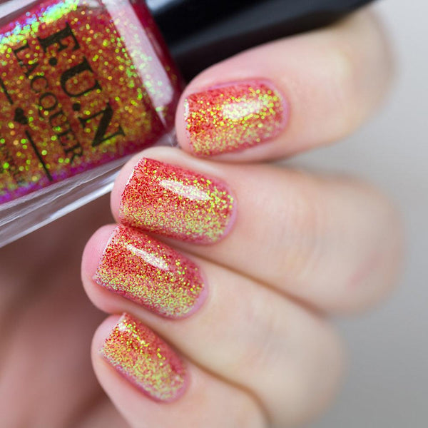 Jingle Bells Red Color Shifting Glitter Nail Polish