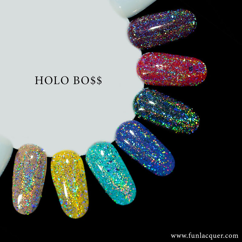 Holo Boss Holographic Powder for Holo Chrome Nails
