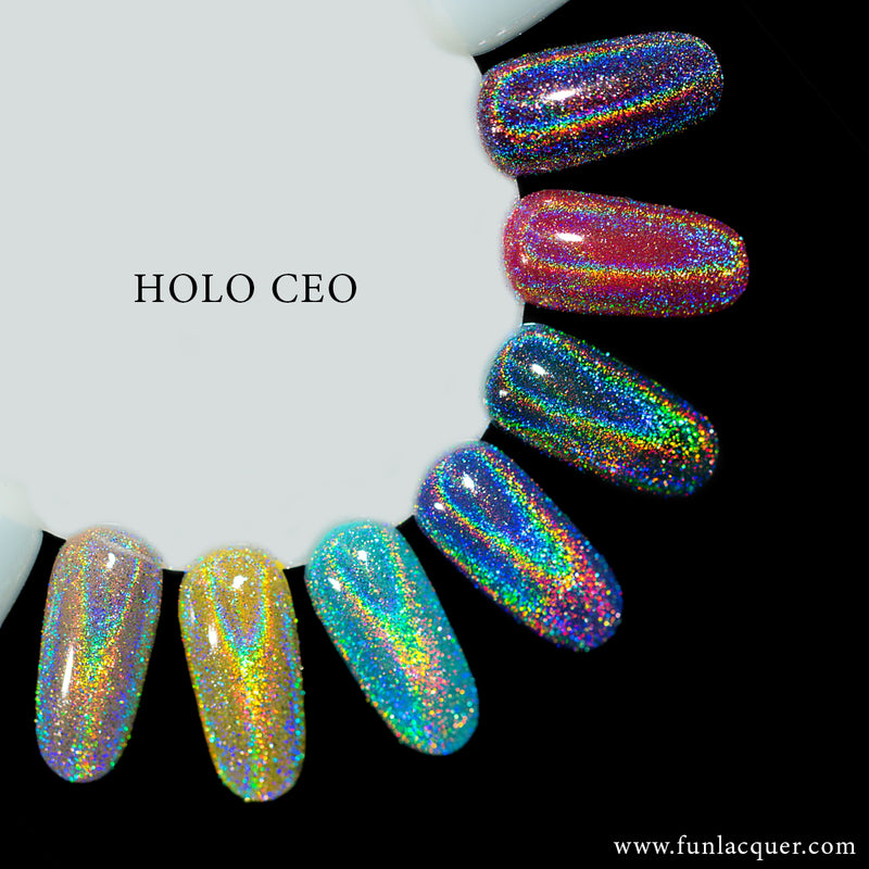 Holo Headquarters Collection Holographic Powder Chrome Nails Kit