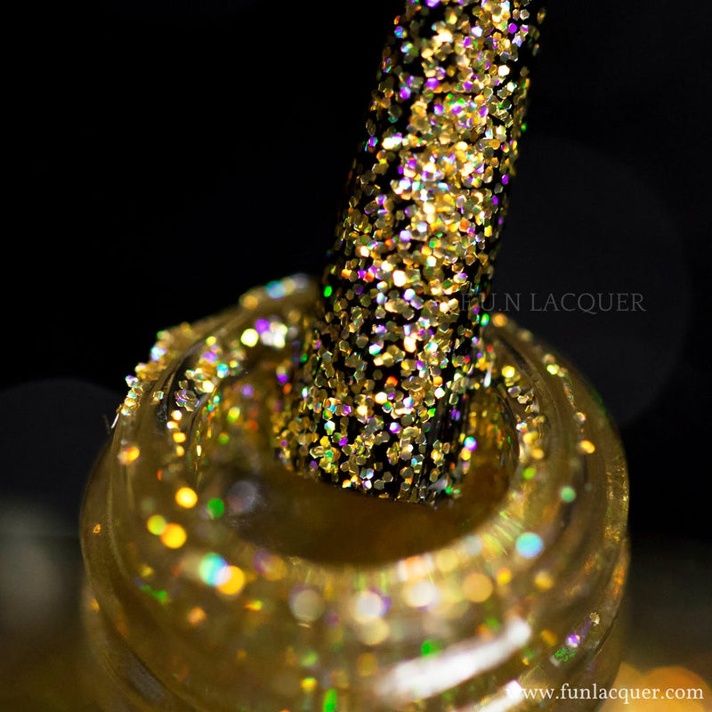 Million Dollar Dream 100% real gold holographic cruelty free nail polish