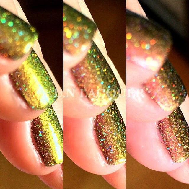 Poinsettia Holographic Multichrome Nail Polish 1