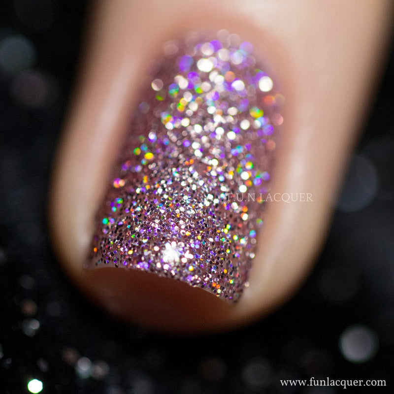 Prima Donna Pink Holographic Nail Polish