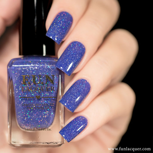 Shana Pastel Purple Holographic Nail Polish