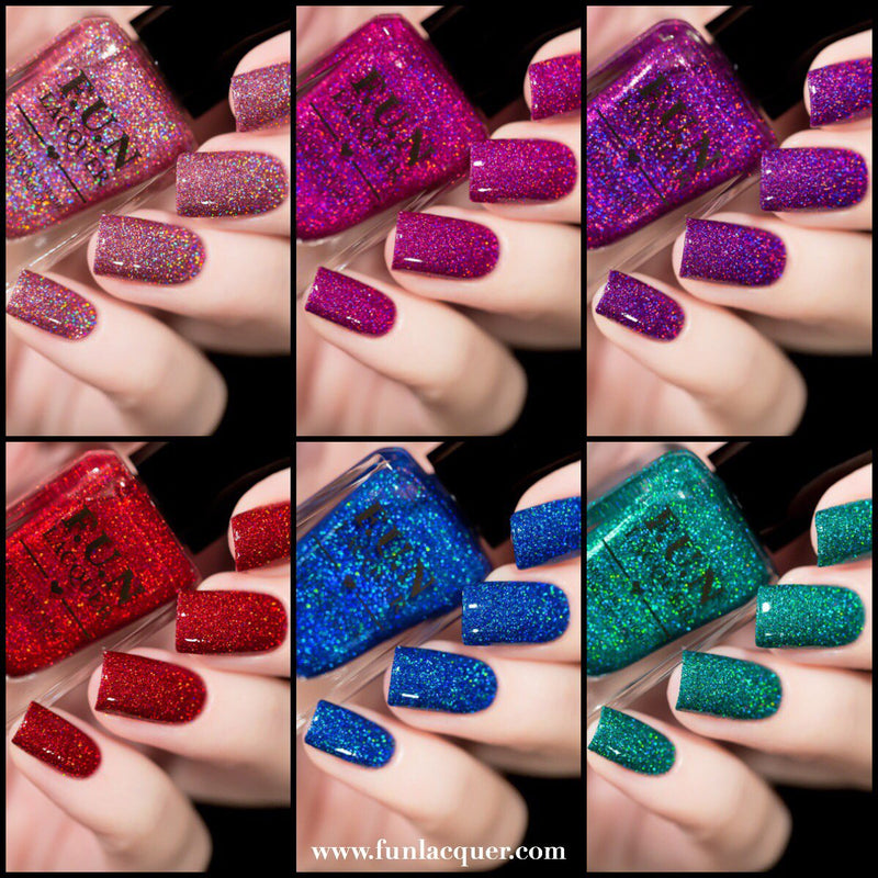 Valentine's 2019 Collection Long Lasting Holographic Glitter Nail Polish