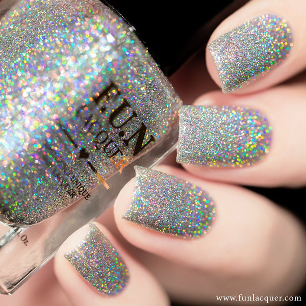 30 Carat Diamond Silver Holographic Glitter Nails
