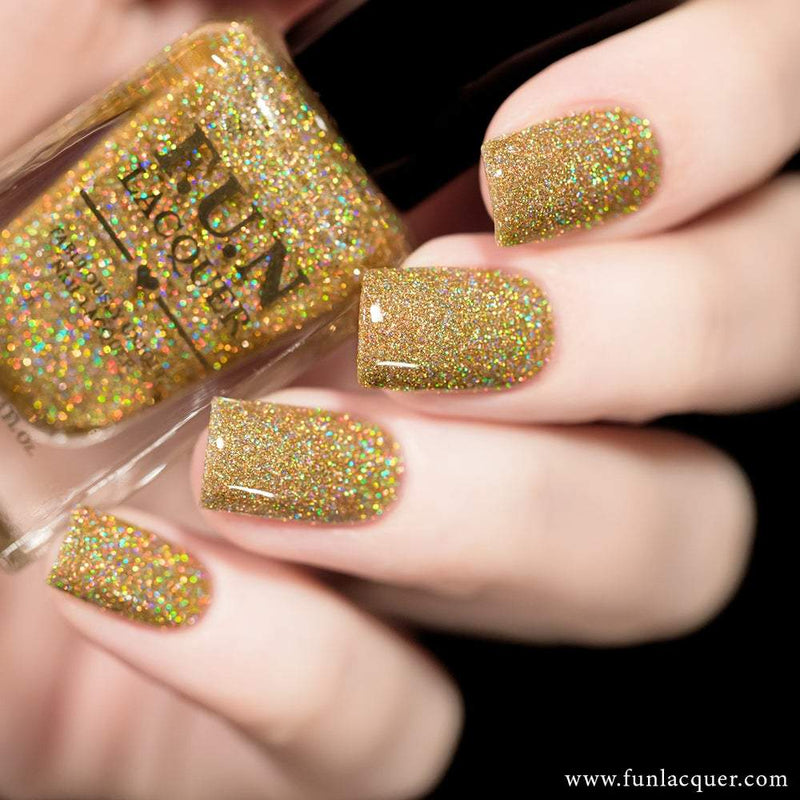 Billion Dollar Dream Gold Holographic Nail Polish