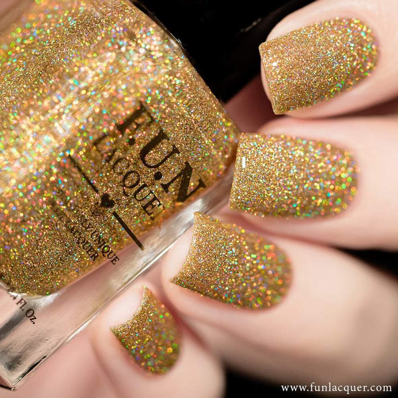 Billion Dollar Dream Gold Holo Glitter Nail Polish