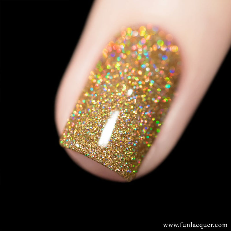 Billion Dollar Dream Gold Holo Nail Polish