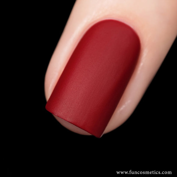 Fashionista 958 Red Velvet Matte Nail Polish