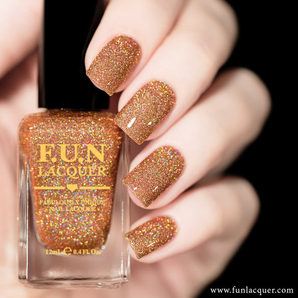 Fetish Copper Rose Gold Holographic Glitter Nail Polish