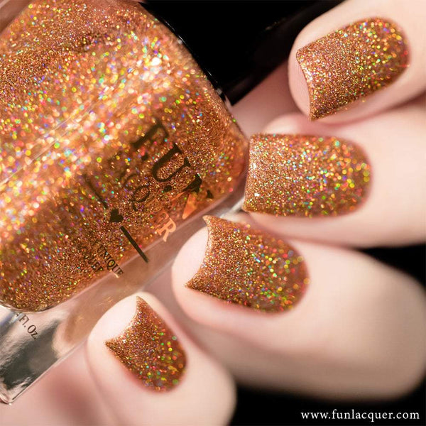 Fetish Copper Rose Gold Holo Glitter Nail Polish