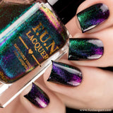 Gorgeous Multichrome Magnetic Flakie Cat Eye Nail Polish