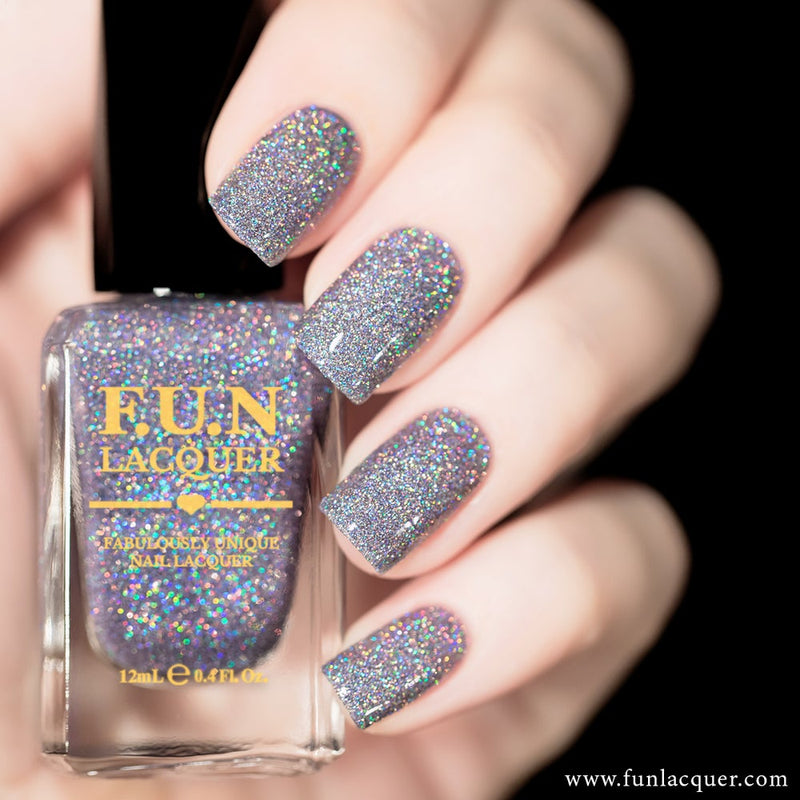 Ice Queen Lavender Holographic Glitter Nail Polish