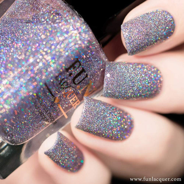 Ice Queen Lavender Micro Holographic Glitter Nail Polish