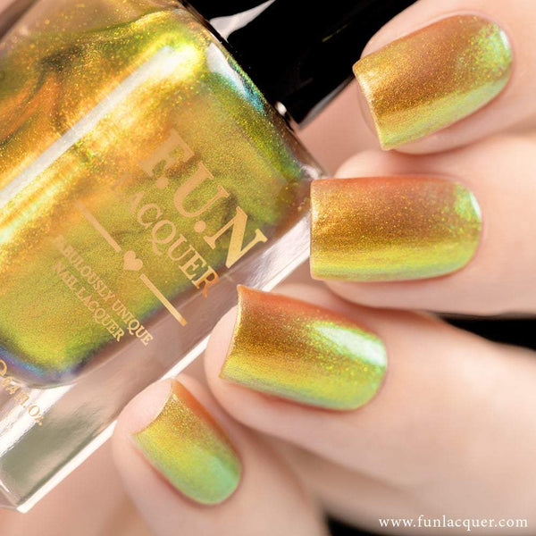 Beetle Gold Color Shifting Iridescent Nail Polish