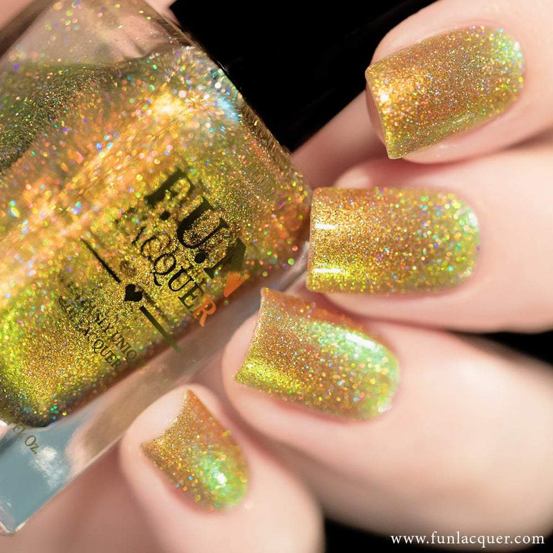 Beetle (H) Gold Color Shifting Holographic Nail Polish