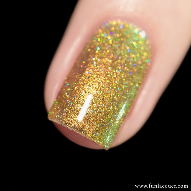 Beetle (H) Best Gold Color Shifting Holographic Nail Polish