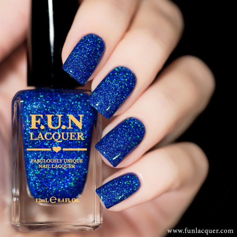 BFF Sapphire Blue Holographic Glitter Nail Polish