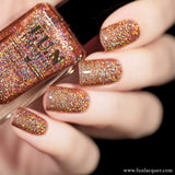 Champagne Rose Rosy Beige Holographic Glitter Nail Polish 2