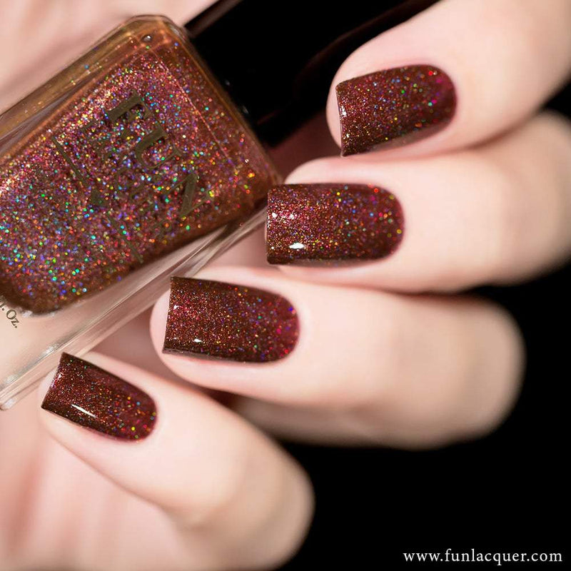 Chestnut Best Brown Holographic Nail Polish 2