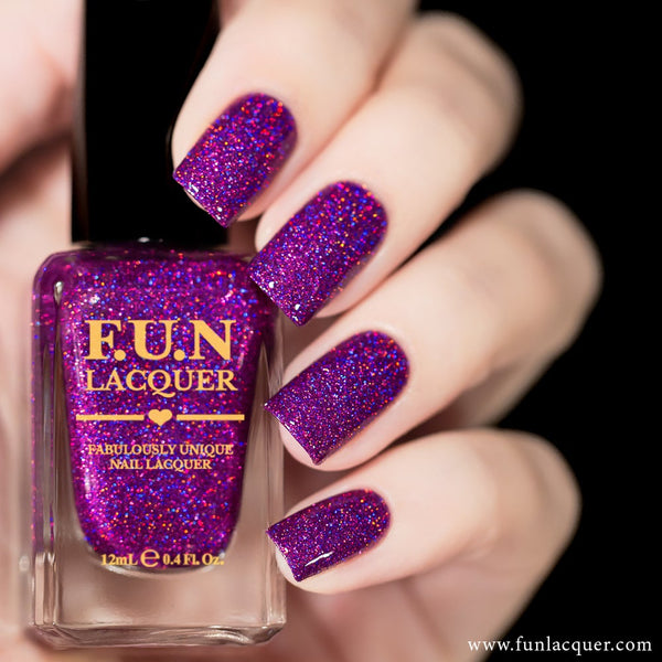Crazy In Love Purple Holographic Glitter Nail Polish