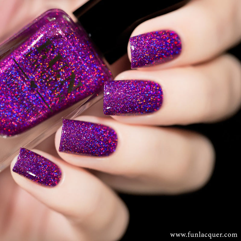 Crazy In Love Purple Diamond Holographic Glitter Nail Polish
