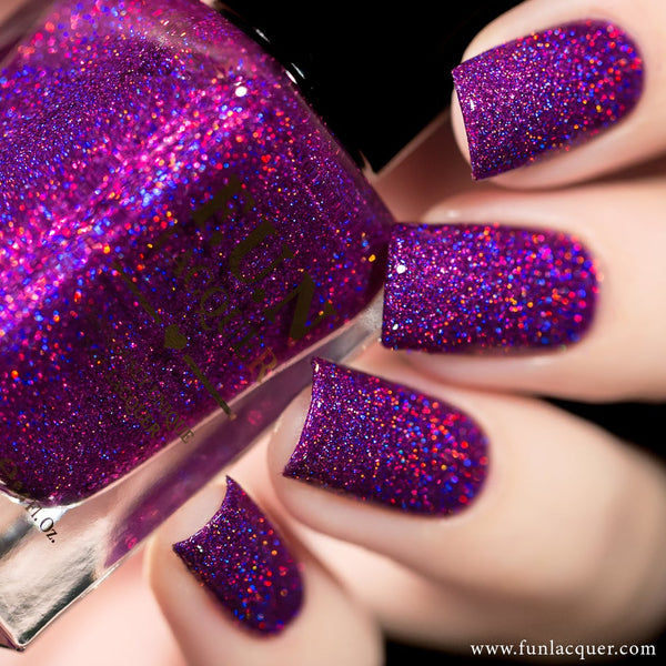 Crazy In Love Purple Holo Glitter Nail Polish