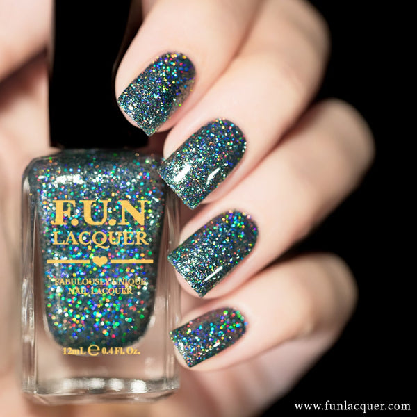 Do You Steel Love Me? Grey Holographic Glitter Nail Polish