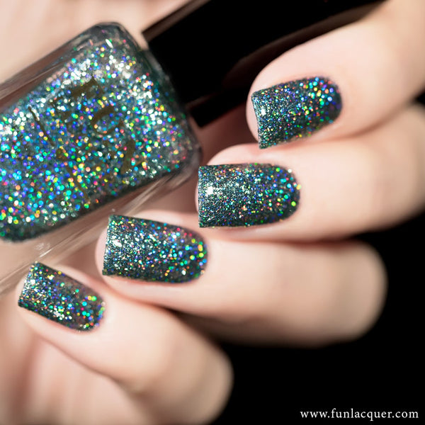 Do You Steel Love Me? Grey Holo Glitter Nail Polish